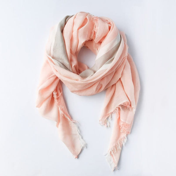 Bloom & Give Tres Cotton Scarf Rose handcrafted in India