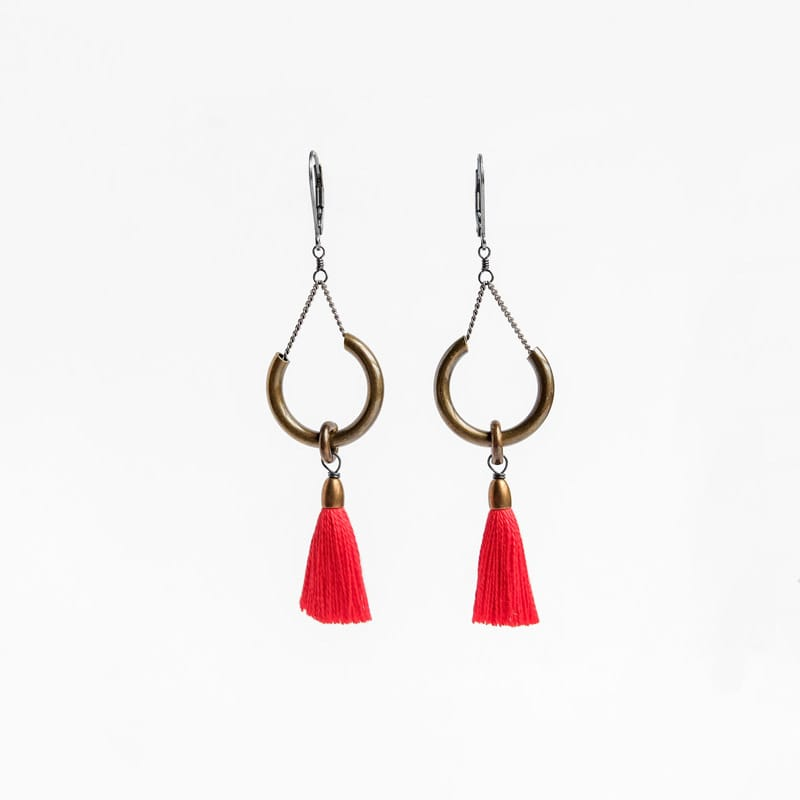 Duster Earrings - Poppy