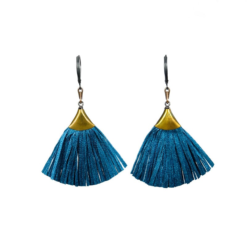 Plume Earrings - Ocean