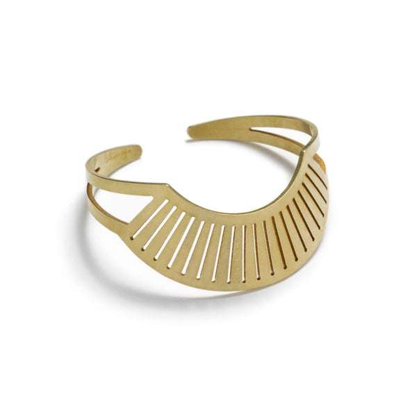 Canto Cuff adjustable Bracelet brass front