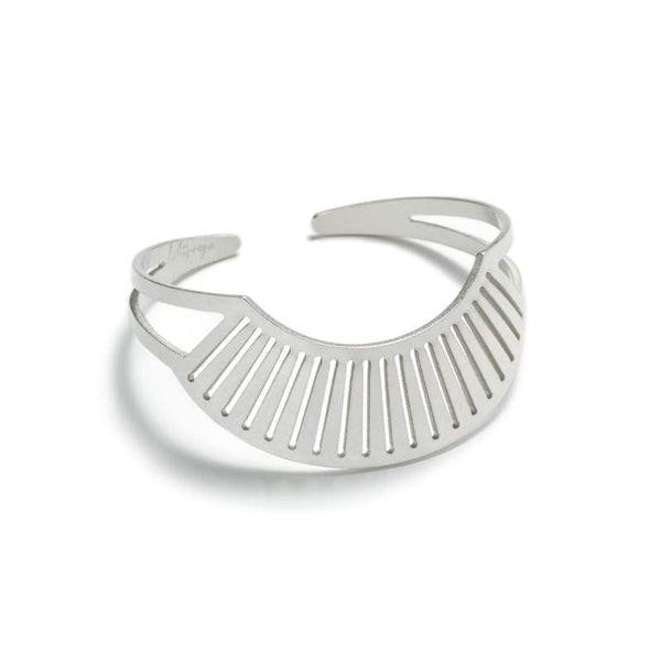 Canto Cuff adjustable Bracelet sterling silver front
