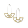 coro pendant earrings in brass front/back