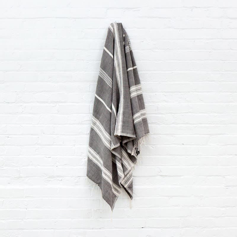 Aden Cotton Bath Towel - Gray