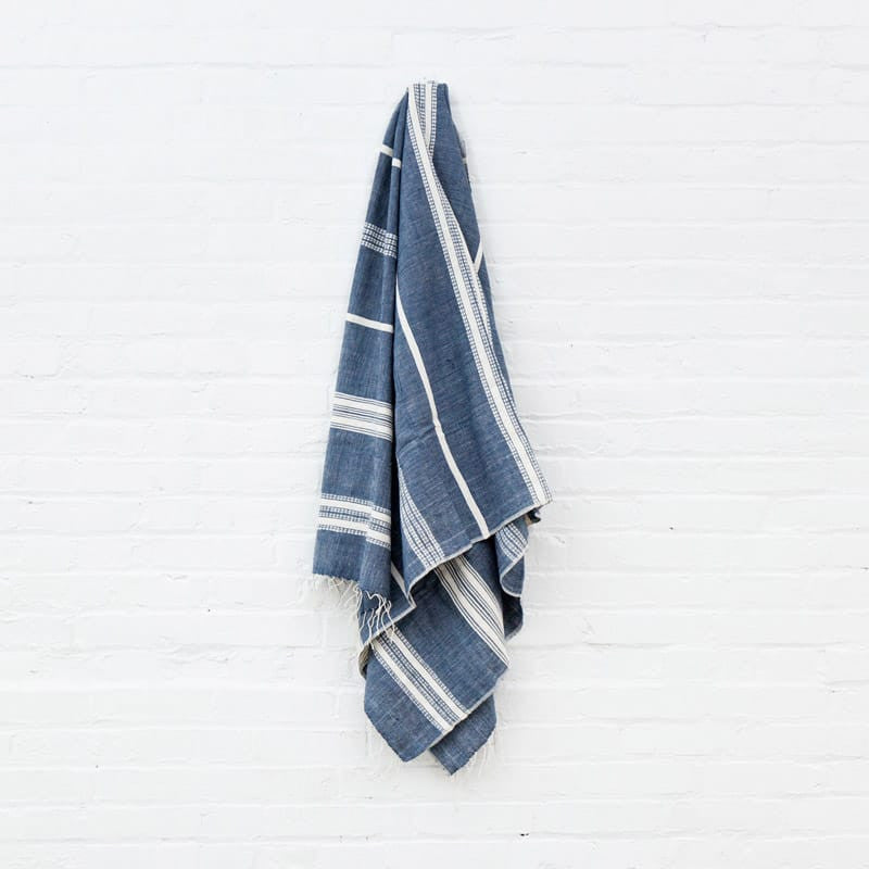 Aden Cotton Bath Towel - Navy