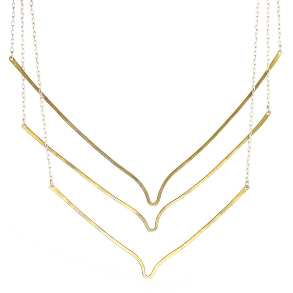 betsy & iya True South necklace with mixed metals