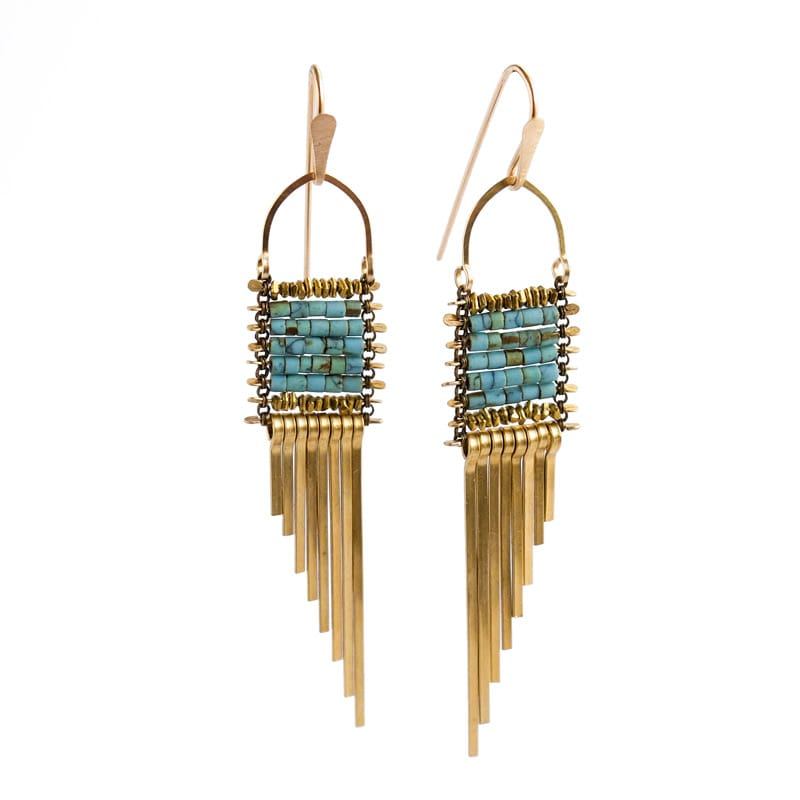 Asymmetrical Turquoise Earrings
