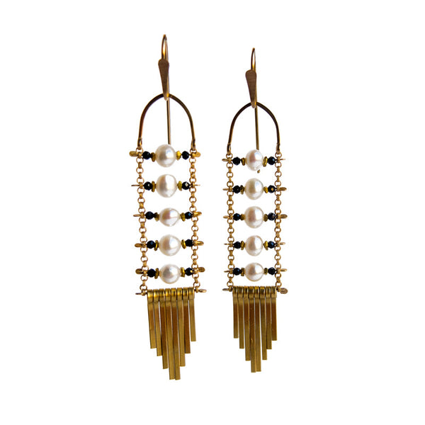 Demimonde Jewelry Pearl Earrings