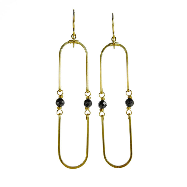 Double Hinged Spinel Earrings