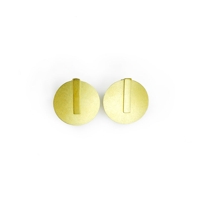 Dual Shape Ear Jacket Earrings