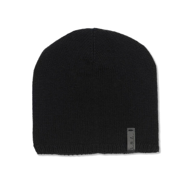 Hand-knit Emma Hat in Black from Dinadi