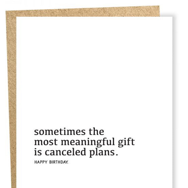 Meaningful Gift Birthday Card