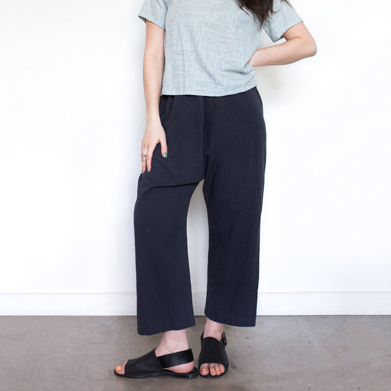 Charcoal Fine Cotton Pants