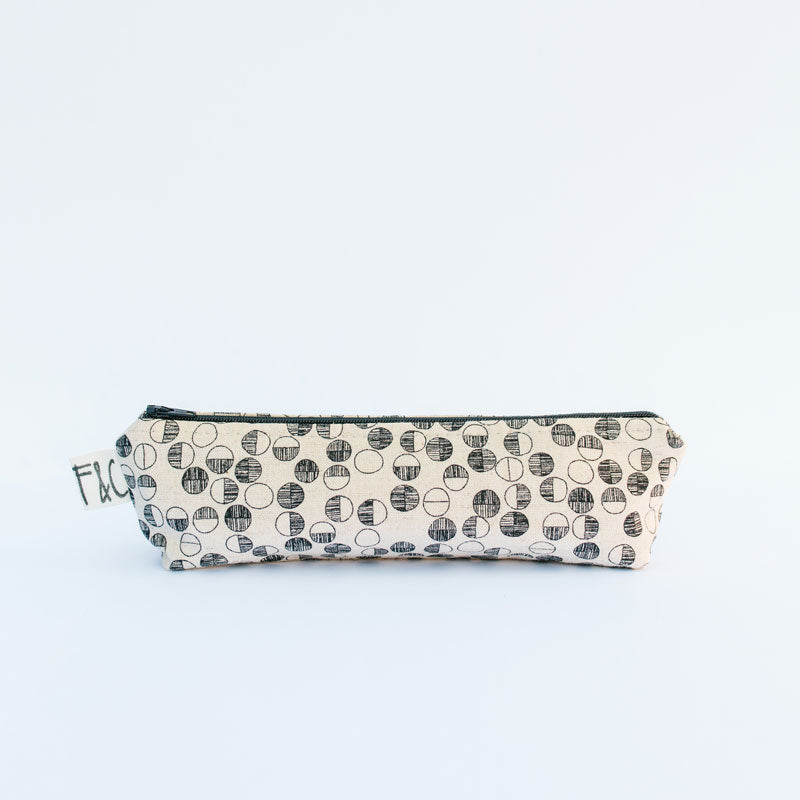 Grant Pencil Case in Black Circles