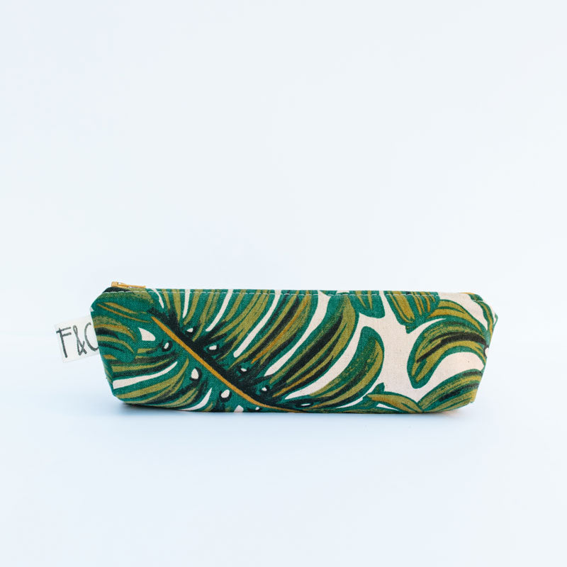Grant Pencil Case in Monstera