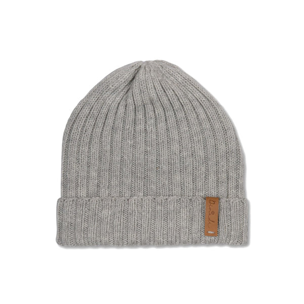 Hand-knit wool Gustaf Hat in Silver Grey from Dinadi