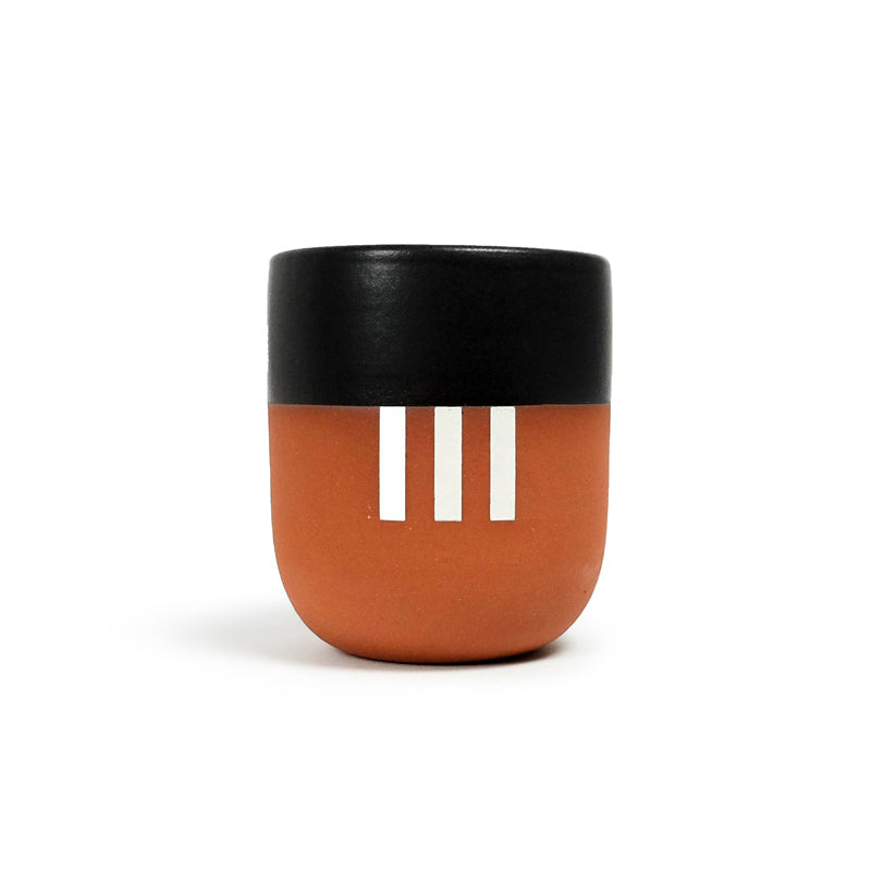 Handleless Mug - White Stripe