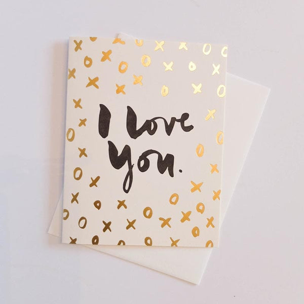 """I Love You XO"" Card"