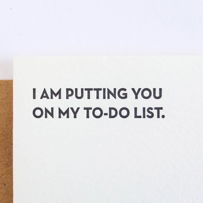"""To-Do List"" Card"