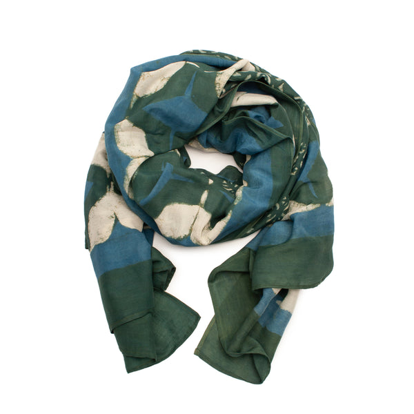Ethereal Cotton & Silk Scarf from Ichcha. Made in India.