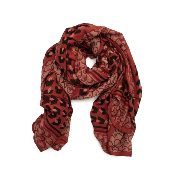 Ruby Cotton & Silk Scarf by Ichcha. Made in India.
