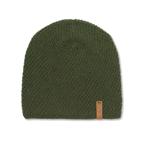 Hand-knit Ingrid Hat in Forest Green from Dinadi