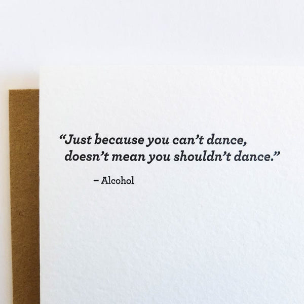 """You Can't Dance"" Card"