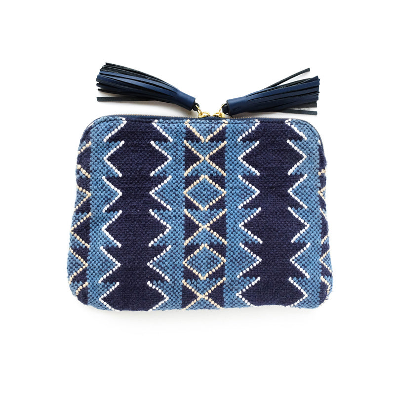 Kavya Clutch in Indigo
