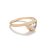 """Omnia"" large half moon diamond ring matte - betsy & iya"