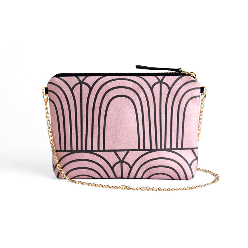 Dulce Clutch & Strap Bag - Arches Dusty Rose