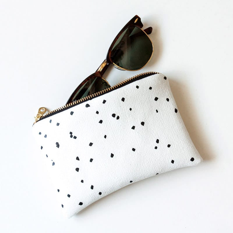 Portofino Bag - White w/ Black Confetti