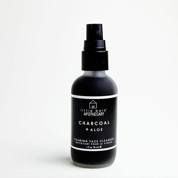 Little Barn Charcoal & Aloe Foaming Face Cleanser