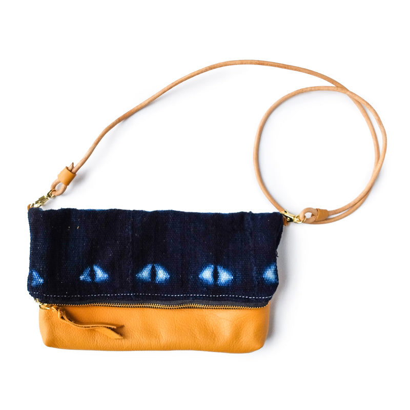 Folded Clutch Indigo