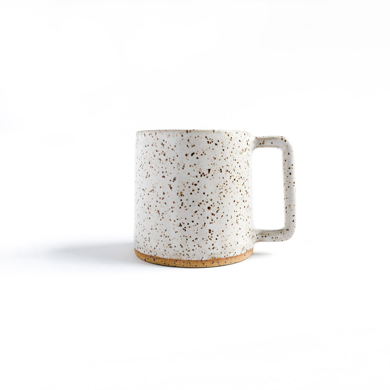 Mug Classic White Speckled Solid