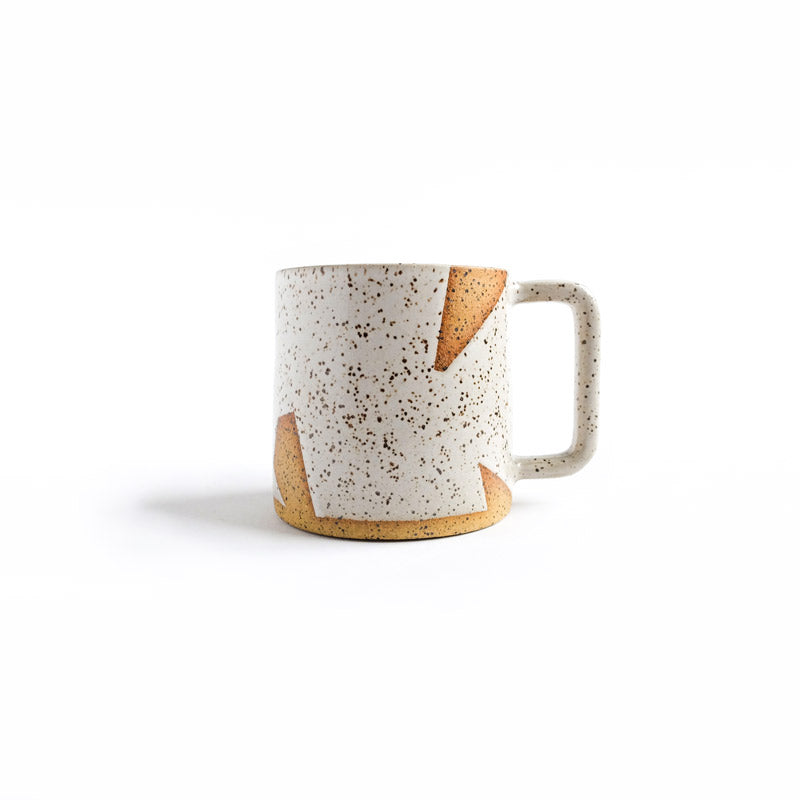 Mug White Speckled Geo