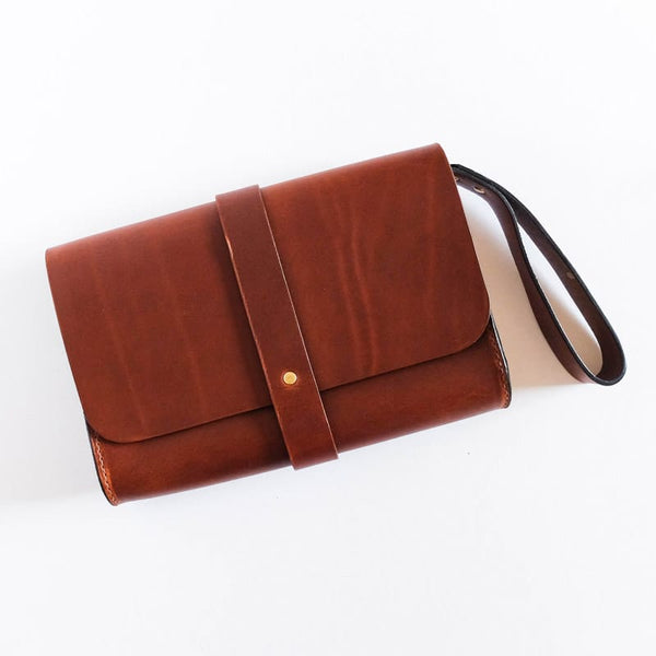 Martine Faro Clutch Chestnut
