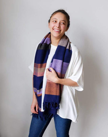 Minna Scarf/Towel in Plum
