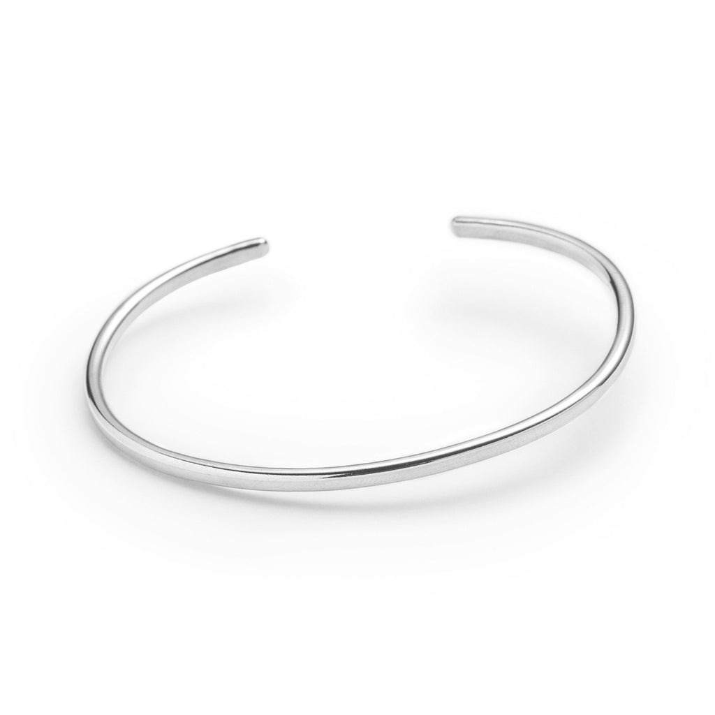 bangle cuff bracelet womens thin silverly gypsy smooth silver plate base simple products mm bracelets plain bangles stacking sterling