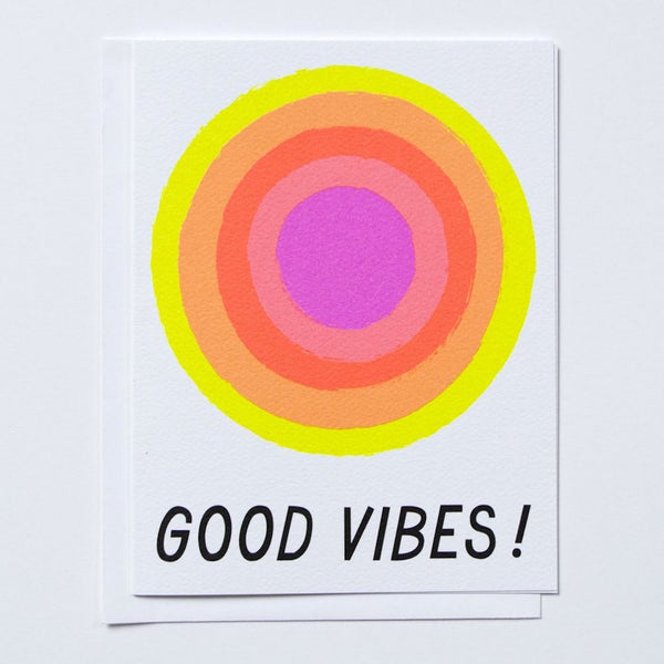 Good Vibes Glowing Neon Sunshine Card