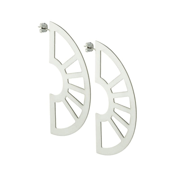 Neva statement earrings in sterling silver side