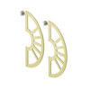 Neva statement earrings in brass flat