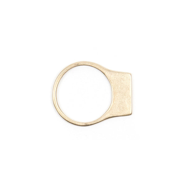 Contemporary and minimal bronze stacking ring with an elongated curve that sits above the top of the finger. Hand-crafted in Portland, Oregon.