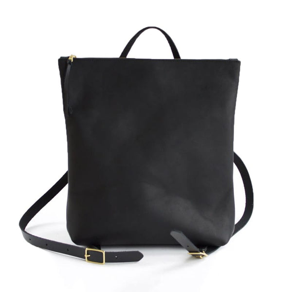 Nico Zip Top Backpack Black Neva Opet