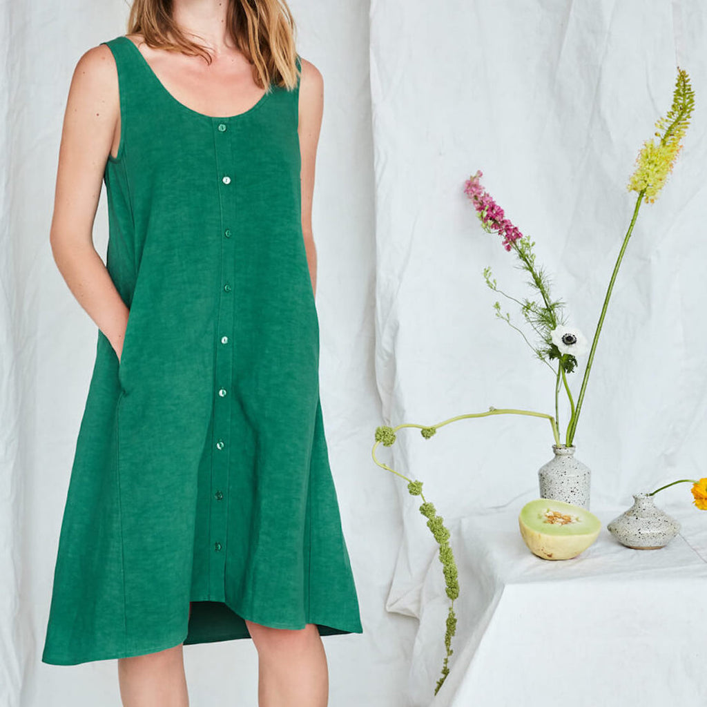 Nymphea Dress in Ivy