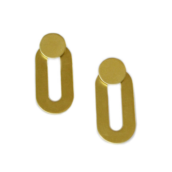 Oblong Ear Jacket Earrings