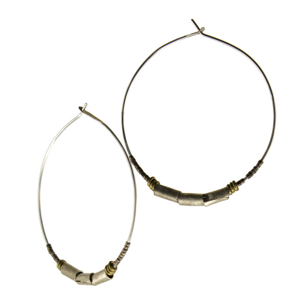 betsy & iya Colubrina Hoop earrings.