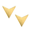 Front view of the mirage stud earrings by betsy & iya.