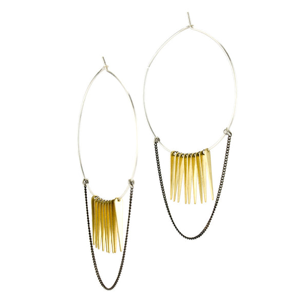 betsy & iya Conata Hoop earrings.