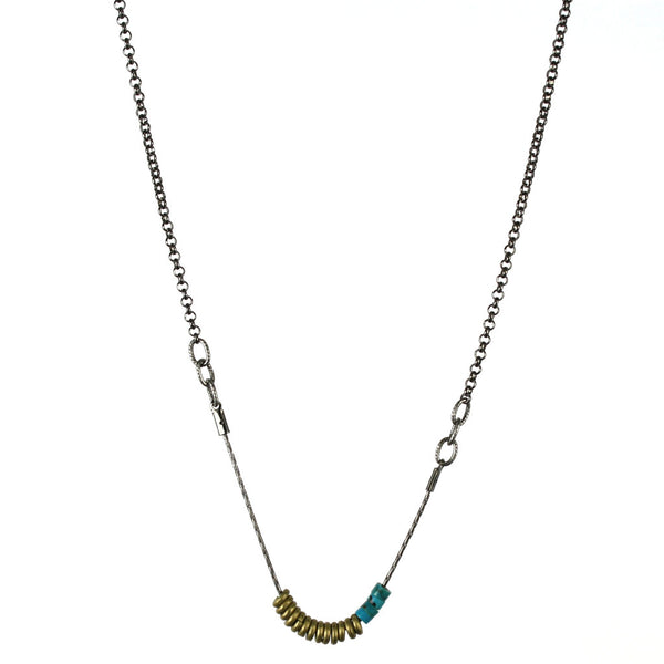 betsy & iya Stacked Dakota necklace with mixed metals
