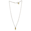 Full-length betsy & iya Badlands necklace with dangling gold points.