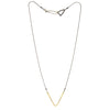 Lightweight V shaped pendant necklace